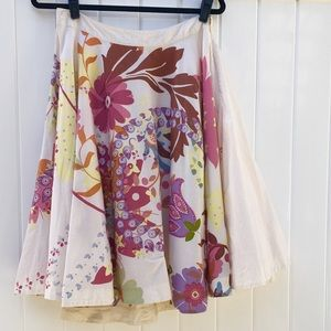 Anthropologie Odille Fit & Flare Cotton Skirt